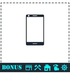 Smartphone icon flat vector image vector image