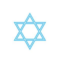 Star of david - symbol of judaism vector