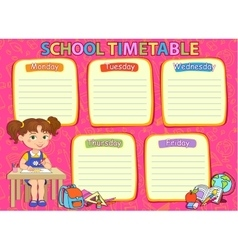 School timetable image vector