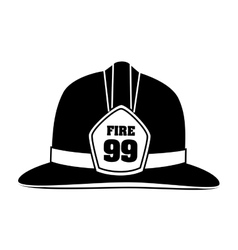 hat fire equipement service emergency vector image