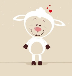 Lovely sheep vector image