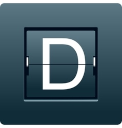 Letter D from mechanical scoreboard vector image
