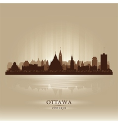 Ottawa Ontario skyline city silhouette vector image