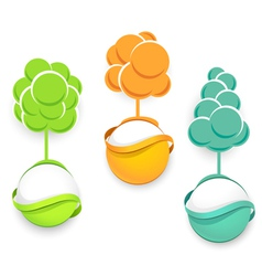 Set of trees icons vector image