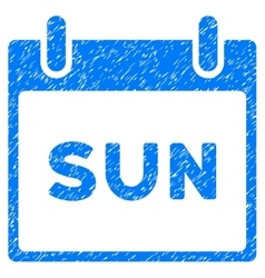 Sunday calendar page grainy texture icon vector