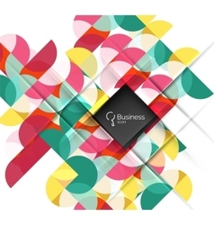 Abstract geometric composition vector