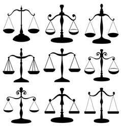 Law scale symbol set vector image