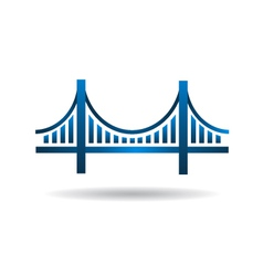 Bridge Blue Icon Logo vector image