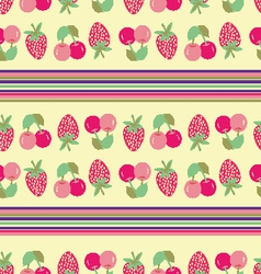 Strawberry cherry background vector