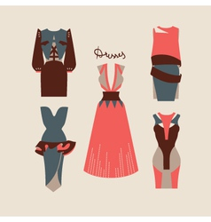 Beautiful woman dresses eps 10 vector