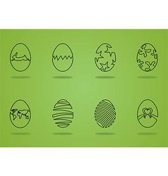 Easter egg green vector