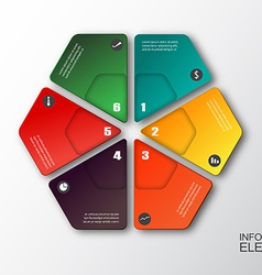 Modern hexagon infographics options banner vector