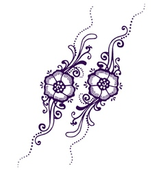 Floral paisley henna vector