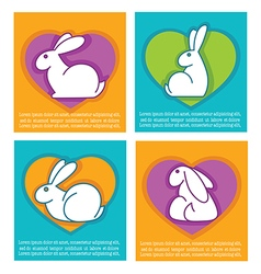easter rabbits cards vector image