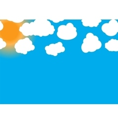 Set of different Cloud and Sun vector image
