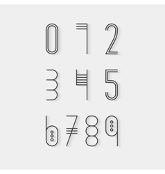 Original ethnic numerals set vector