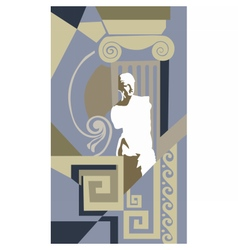 Abstract composition greek style vector