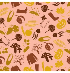 autumn color icons seamless pattern eps10 vector image