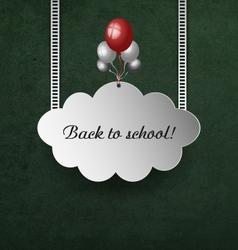 Background with school blackboard vector