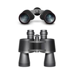 black travel binoculars vector image vector image