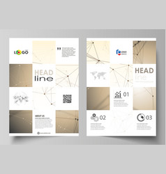 Business templates for brochure flyer booklet vector
