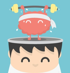 Businessman exercising brain vector