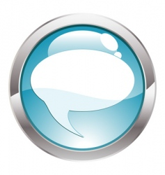 button with bubble vector image vector image