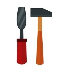 Chisel hammer vector