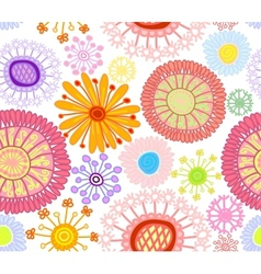 Colored floral seamless background vector image vector image