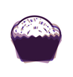 Cupcake sign colorful icon shaked with vector