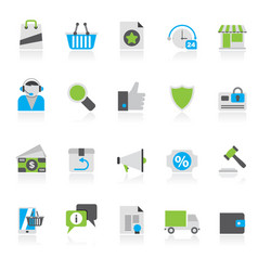 e-commerce and shopping icons vector image vector image