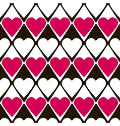 Geometrical valentines day seamless pattern vector image