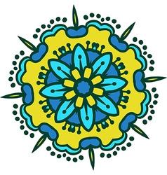 Hand-drawn colored mandala zentangl holi festival vector