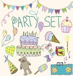 Hand drawn party clip art vector