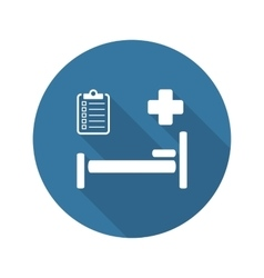 Hospital care icon flat design vector