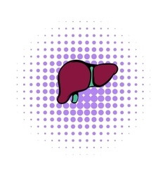 Human liver icon comics style vector