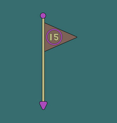 Icon in flat design flag number vector