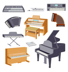 keyboard musical instruments isolated on white vector image