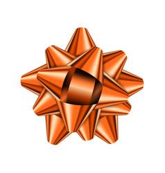 orange holiday bow on white background vector image
