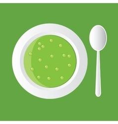 Pea soup vector