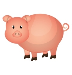 Pig farm animal colorful cartoon vector image