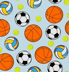 Sports ball seamless pattern Balls ornament vector image vector image