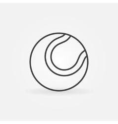 Tennis ball icon or logo vector