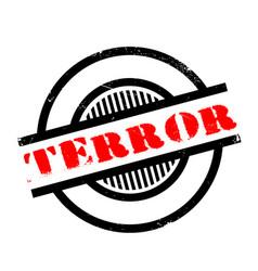 Terror rubber stamp vector