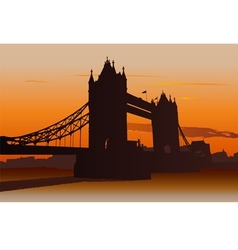 tower bridge in london vector image vector image