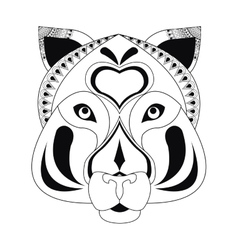 Tribal feline icon vector