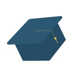hat graduate isolated icon vector image