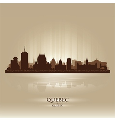 Quebec canada skyline city silhouette vector