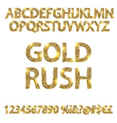 Gold rush alphabets vector