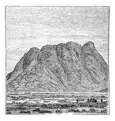 Vintage Mount Sinai vector image